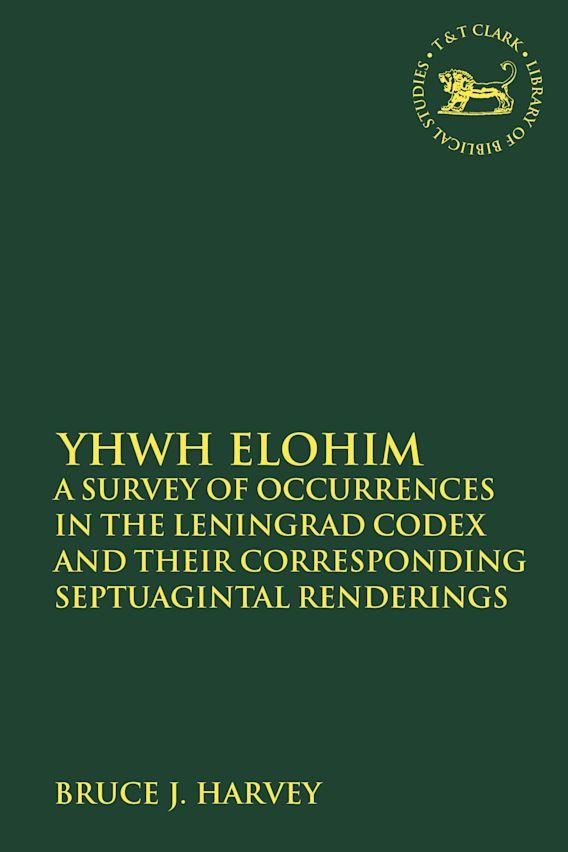 YHWH Elohim cover