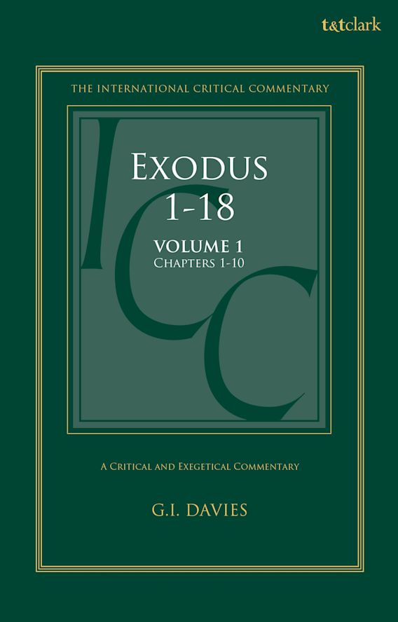 Exodus 1-18: A Critical and Exegetical Commentary cover