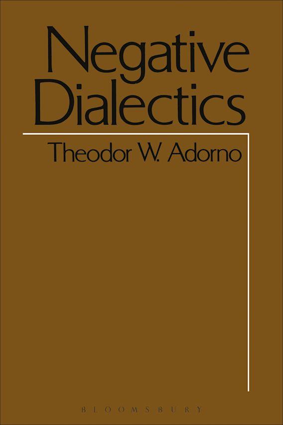 Negative Dialectics cover