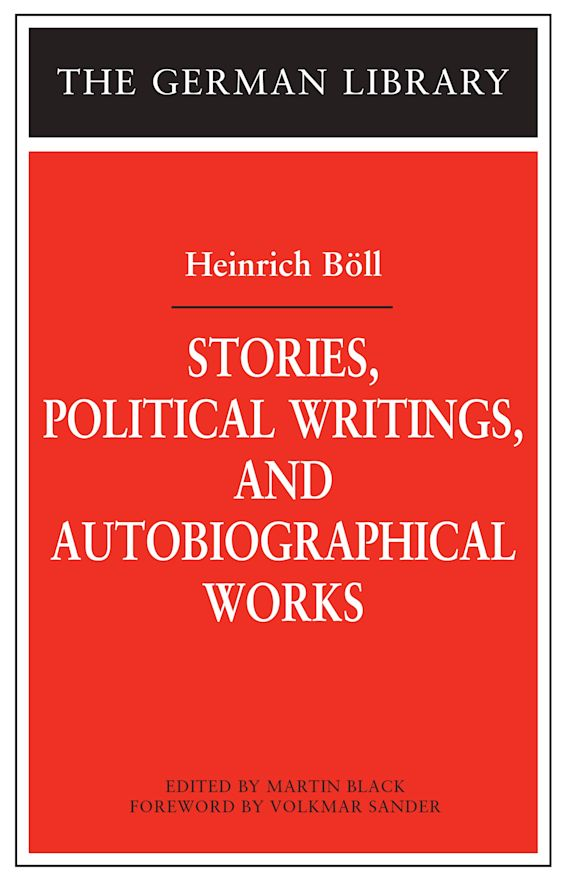 Stories, Political Writings, and Autobiographical Works cover