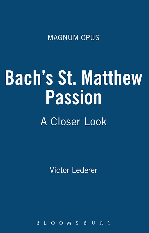 Bach's St. Matthew Passion cover