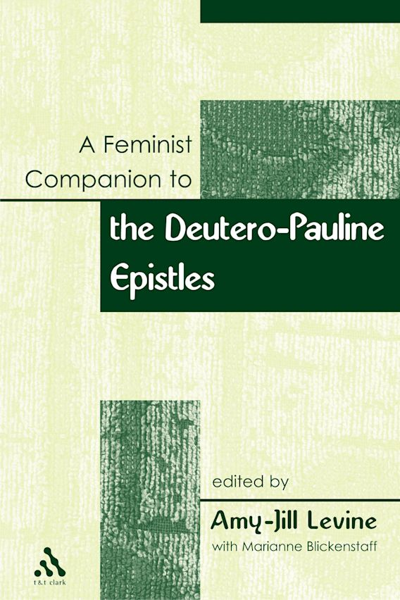 Feminist Companion to Paul cover