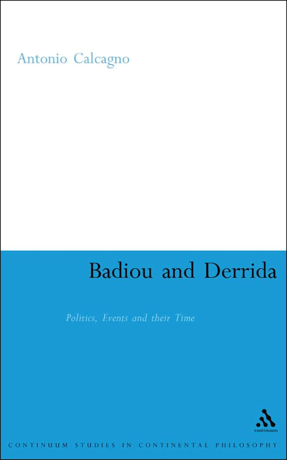 Badiou and Derrida cover