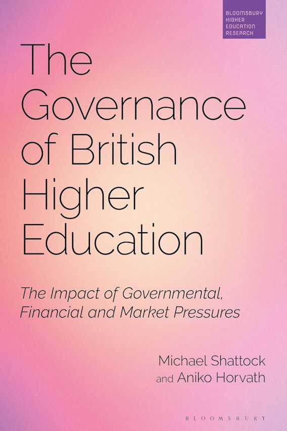 The Governance of British Higher Education cover