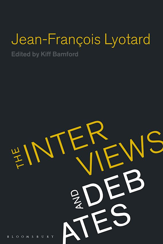 Jean-Francois Lyotard cover