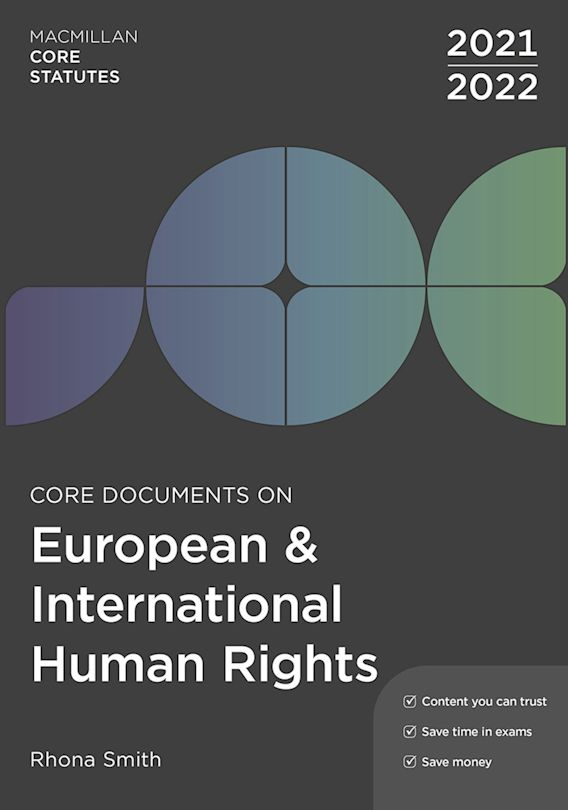 Core Documents on European and International Human Rights 2021-22 cover