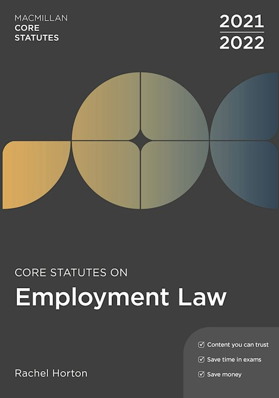 Core Statutes on Employment Law 2021-22 cover
