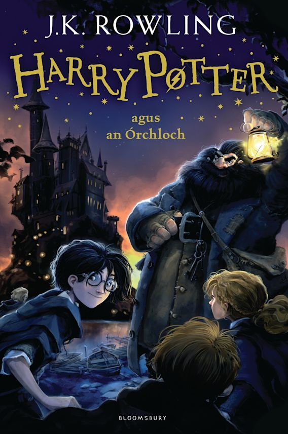 Harry Potter and the Philosopher's Stone (Irish) cover