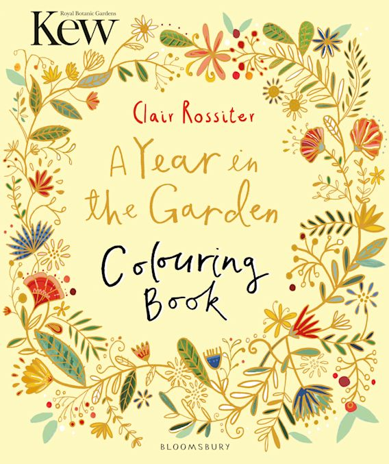 Kew A Year in the Garden Colouring Book cover