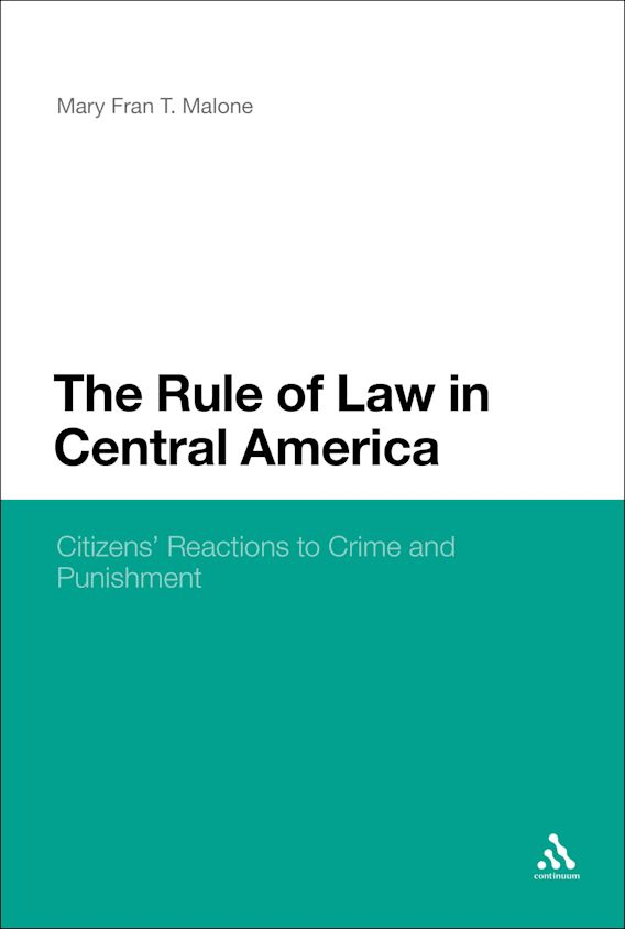 The Rule of Law in Central America cover