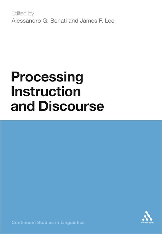 Processing Instruction and Discourse cover
