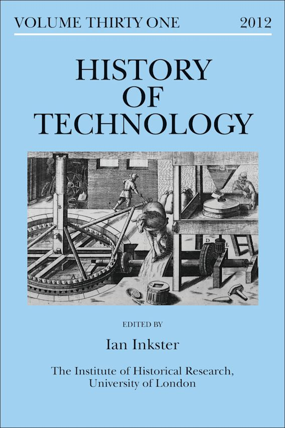 History of Technology Volume 31 cover