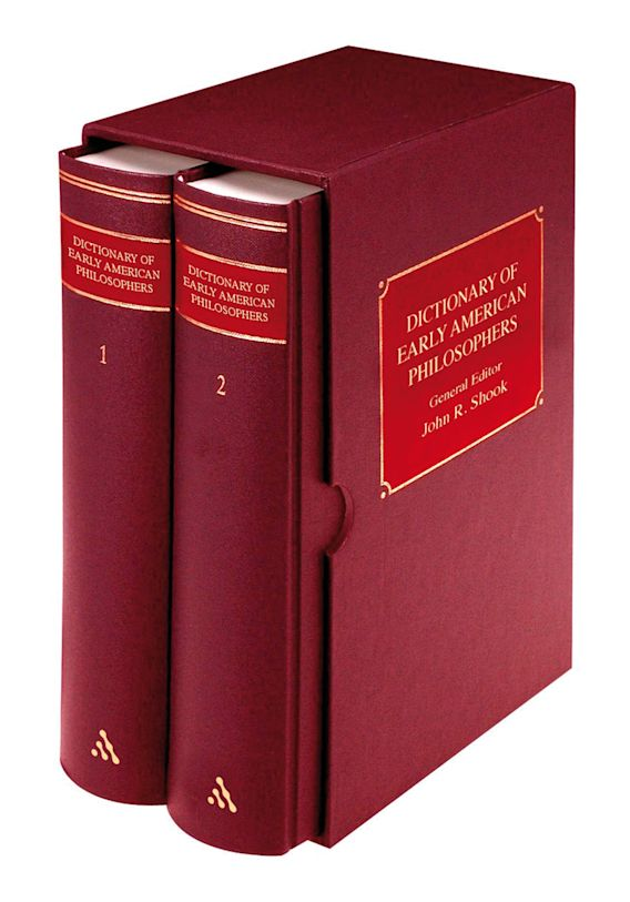 Dictionary of Early American Philosophers cover