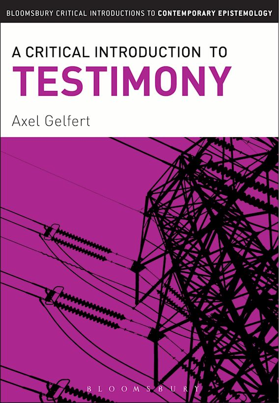 A Critical Introduction to Testimony cover