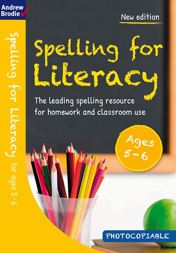 Spelling for Literacy for ages 5-6 cover