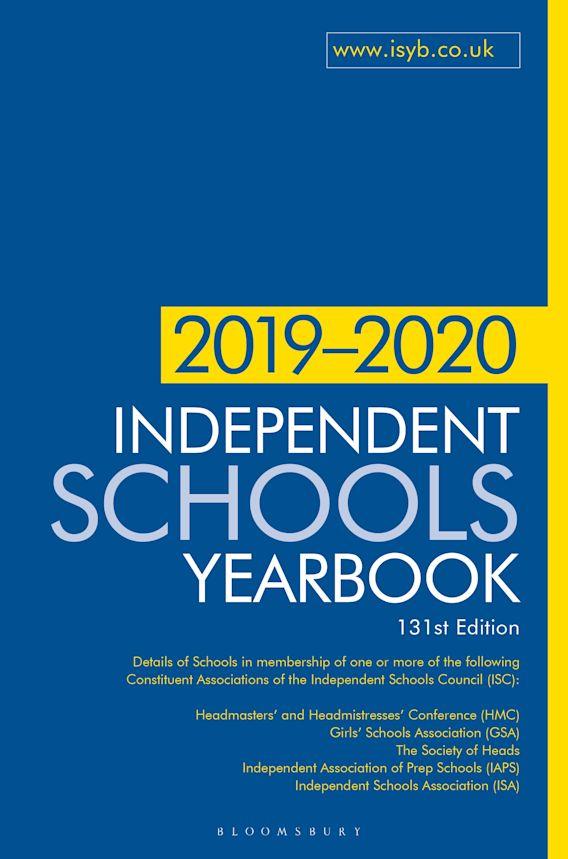 Independent Schools Yearbook 2019-2020 cover