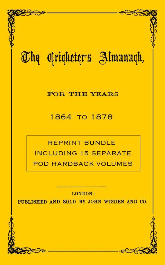 Wisden Cricketers' Almanack 1864 to 1878 cover