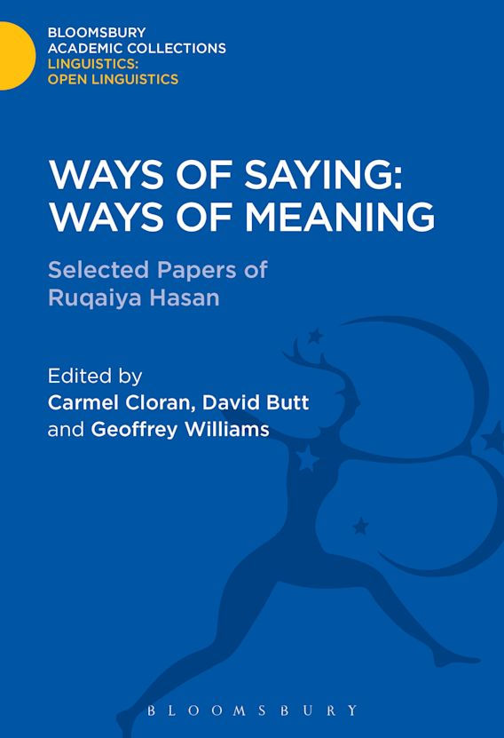 Ways of Saying: Ways of Meaning cover