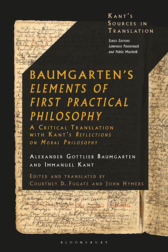 Baumgarten's Elements of First Practical Philosophy cover