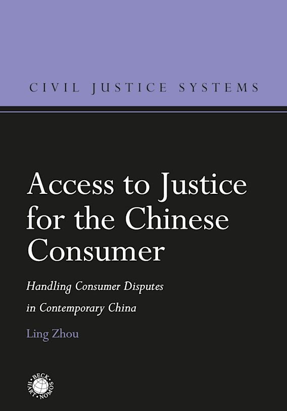 Access to Justice for the Chinese Consumer cover