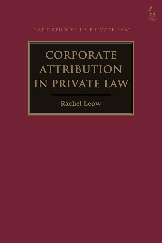 Corporate Attribution in Private Law cover