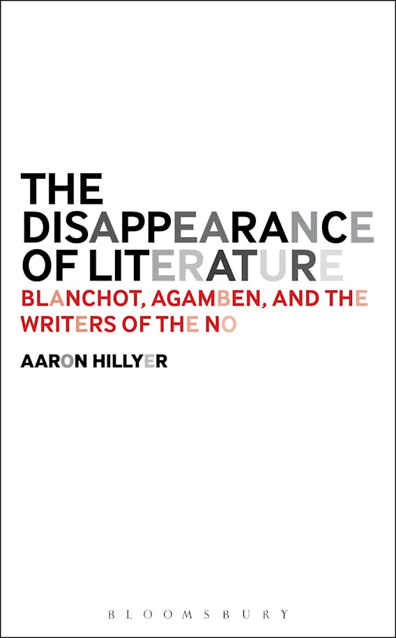 The Disappearance of Literature cover
