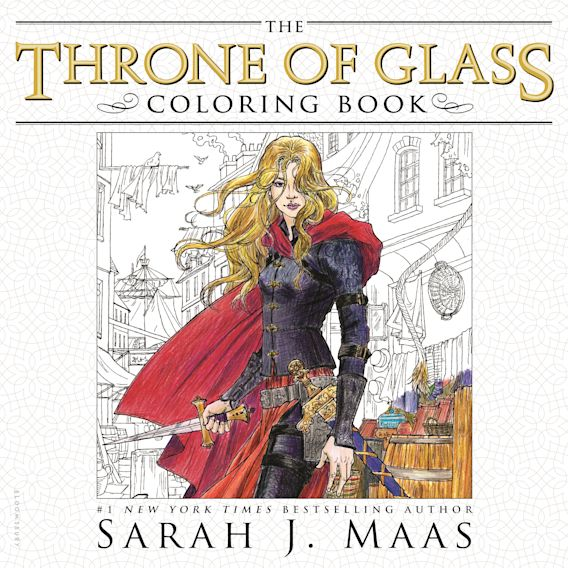 The Throne of Glass Coloring Book cover