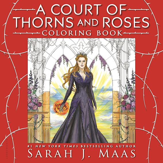 A Court of Thorns and Roses Coloring Book cover