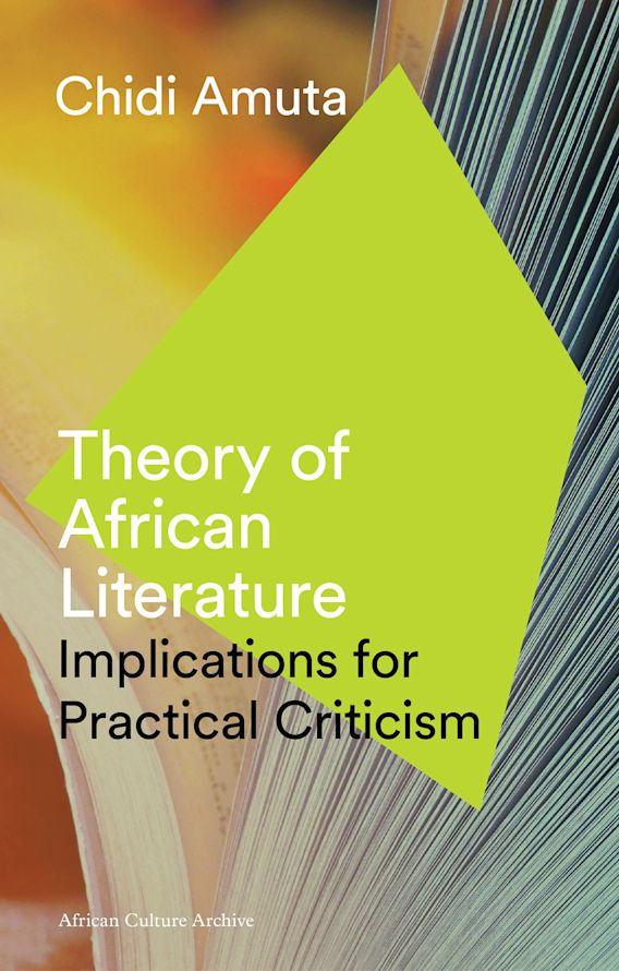 Theory of African Literature cover