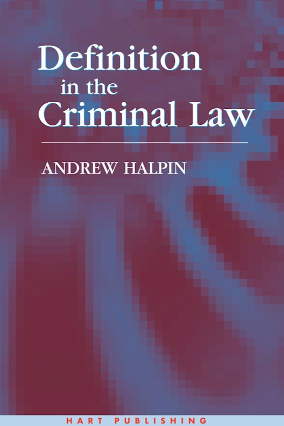 Definition in the Criminal Law cover