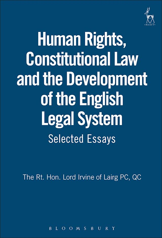 Human Rights, Constitutional Law and the Development of the English Legal System cover