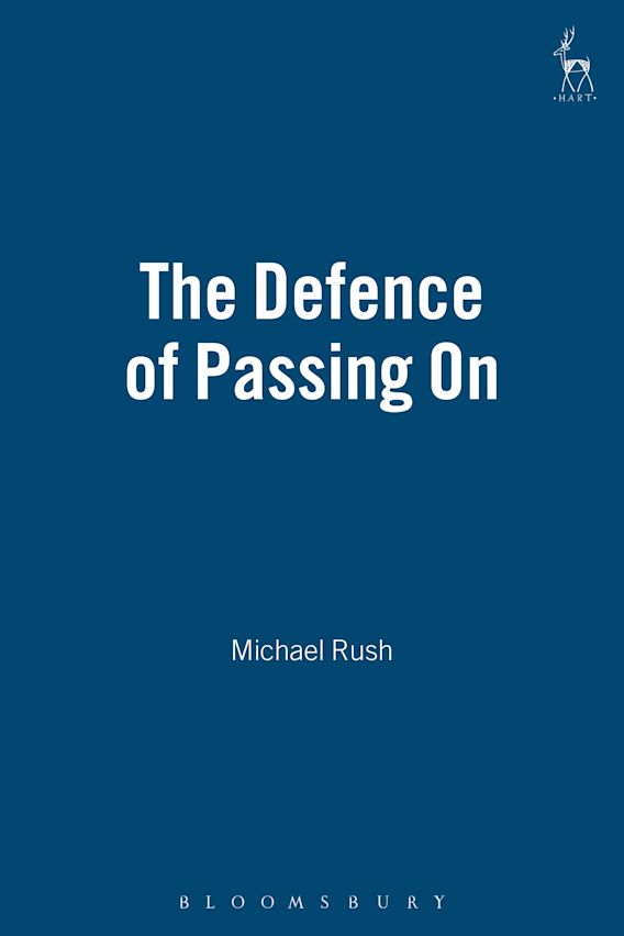 The Defence of Passing On cover