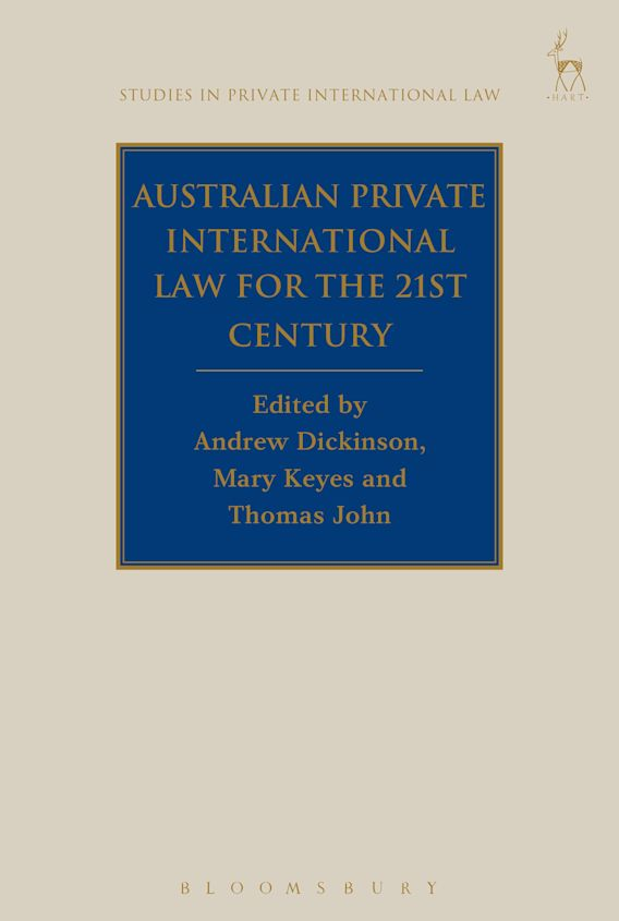 Australian Private International Law for the 21st Century cover