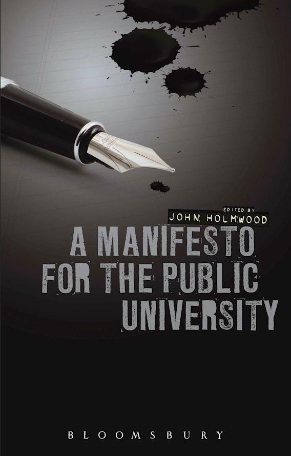 A Manifesto for the Public University cover