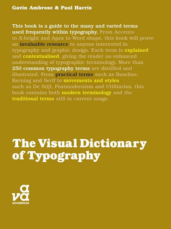 The Visual Dictionary of Typography cover