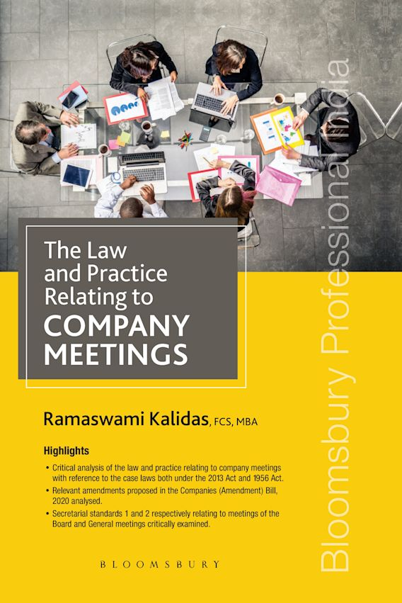 The Law and Practice relating to Company Meetings cover