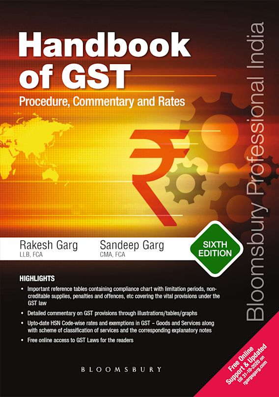 Handbook of GST Procedure, Commentary and Rates cover