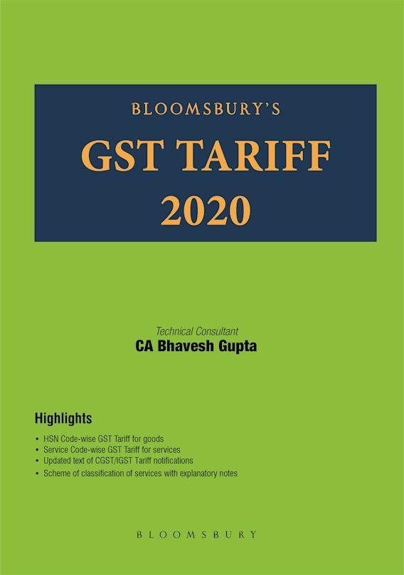 Bloomsbury's GST Tariff 2020 cover