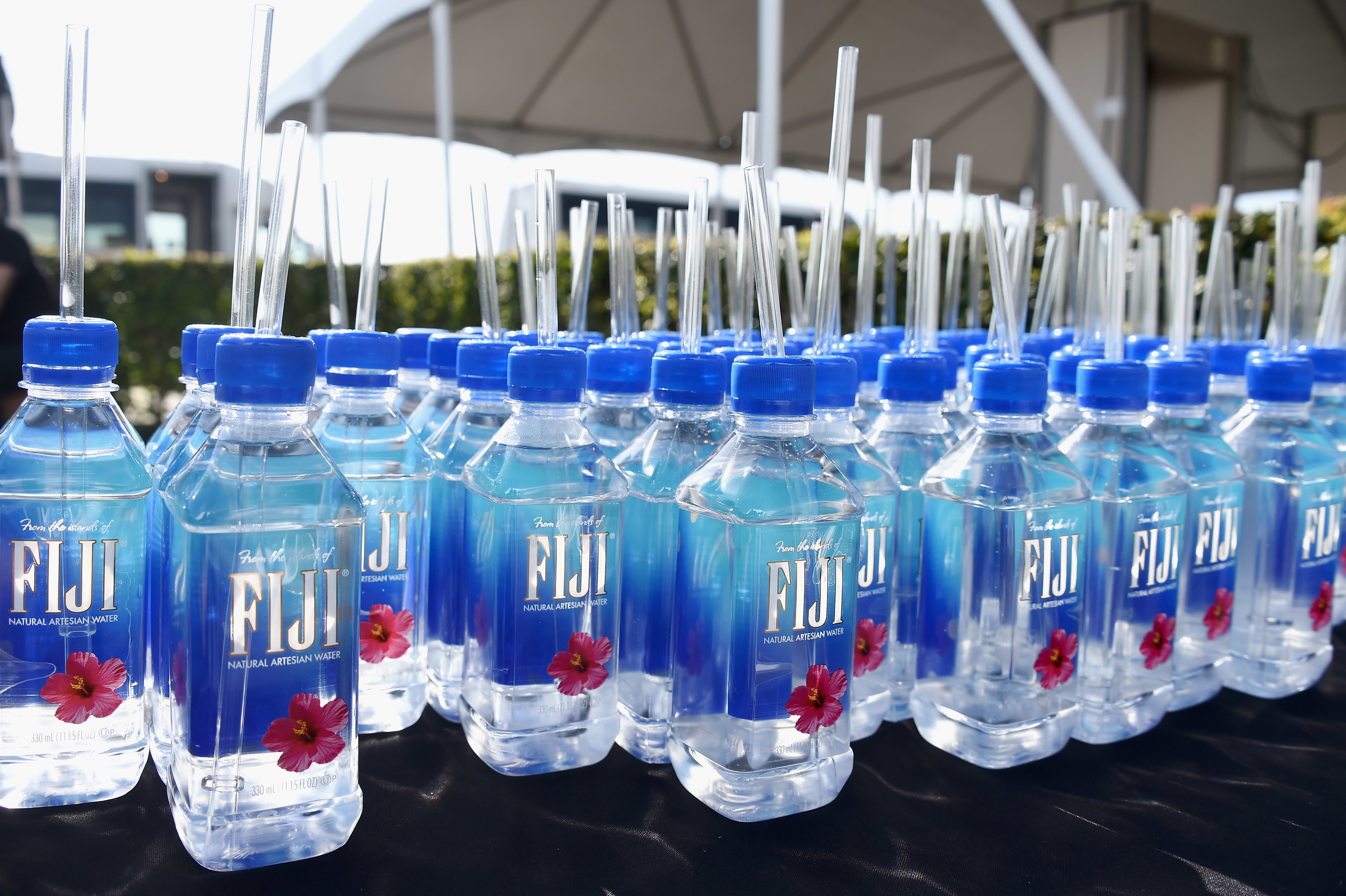 Picture showing bottles of Fiji water