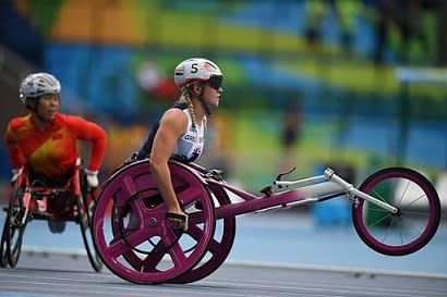 Image showing a paralympic athlete in Rio