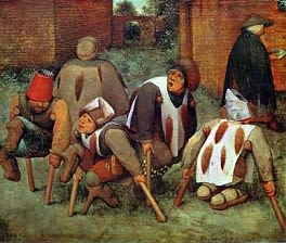 The Cripples (1568) by Pieter Bruegel the Elder.