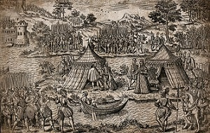 This image shows the negotiations for the Pacification of Amboise in 1563.