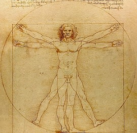 Image showing the <i>The Proportions of the Human Figure</i> (Vitruvian Man)