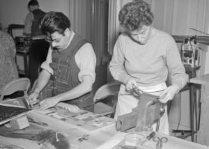 Students Working on Projects at the Bauhaus studio in Chicago. © Getty Images / Bettmann / Contributor