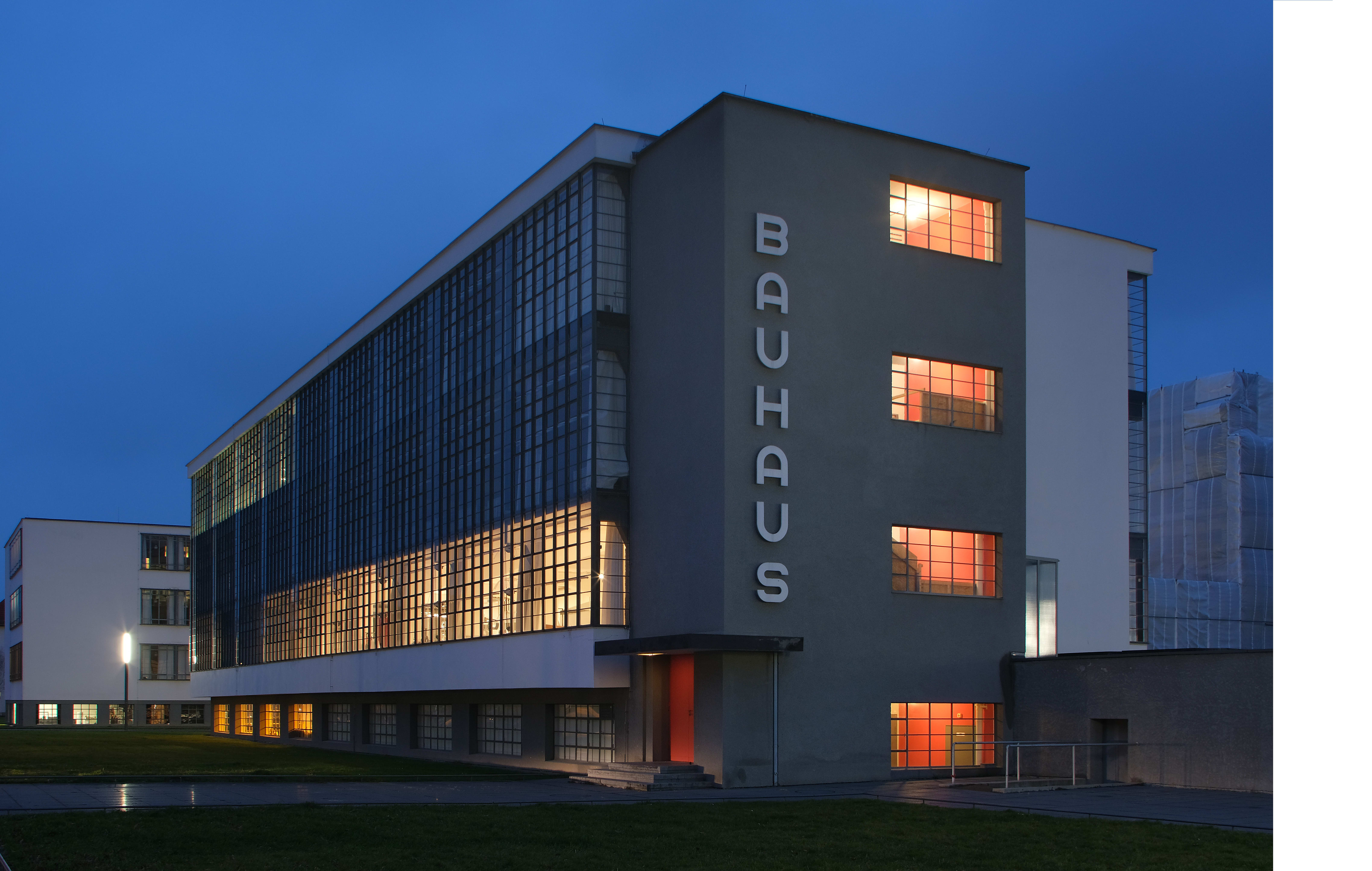Exterior of the Bauhaus Museum in Dessau, Germany. © Getty Images / Sean Gallup / Staff