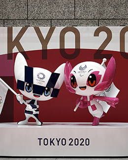 Olympic and Paralymic mascots Miraitowa and Someity