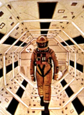 Film still from 2001: A SPACE ODYSSEY (Stanley Kubrick, 1968). Courtesy Everett Collection / Mary Evans