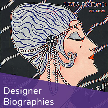 Button to browse Designer Biographies