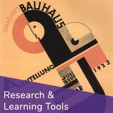 Button to browse Research and Learning Tools