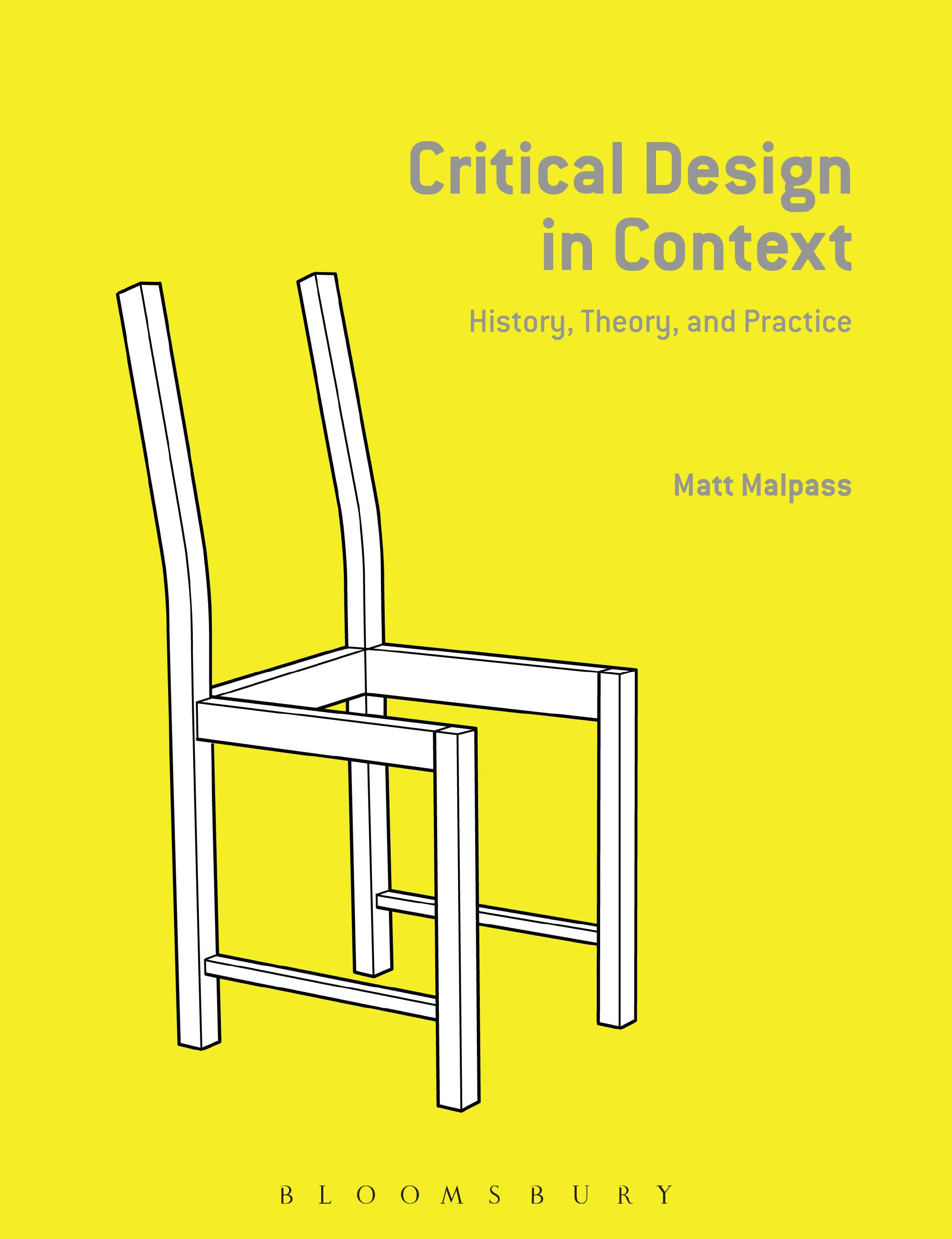 The cover of Critical Design in Context: History, Theory, and Practice.